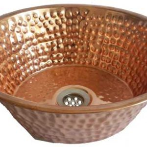 Polished Round Women Copper Toilet Sink