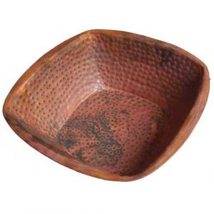 Turkish Hamam Foot Massage Copper Pedicure Square Bowl
