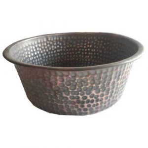 Foot Therapy Copper Pedicure Square Bowl
