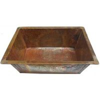 Rectangular Foot Therapy Copper Pedicure Bowl
