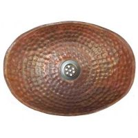 Natural Oval Hand Hammered Women Toilet bathroom Sink