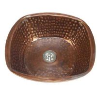 Square Women Copper Bathroom Sink