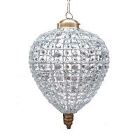 Strawberry French Empire Ceiling Crystal Lamp
