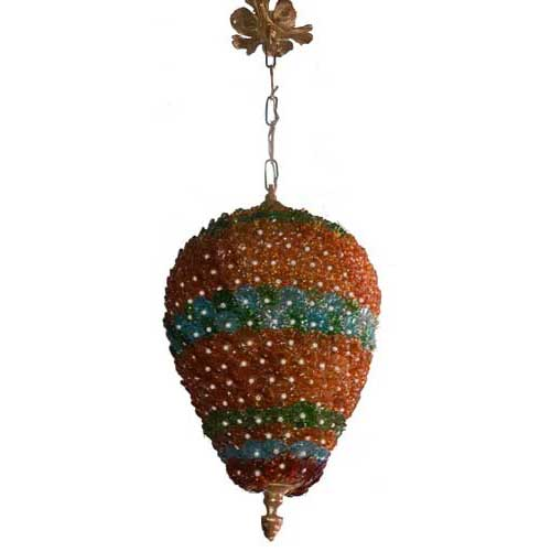 Handcrafted Flowers Beads Ceiling Light Chandelier