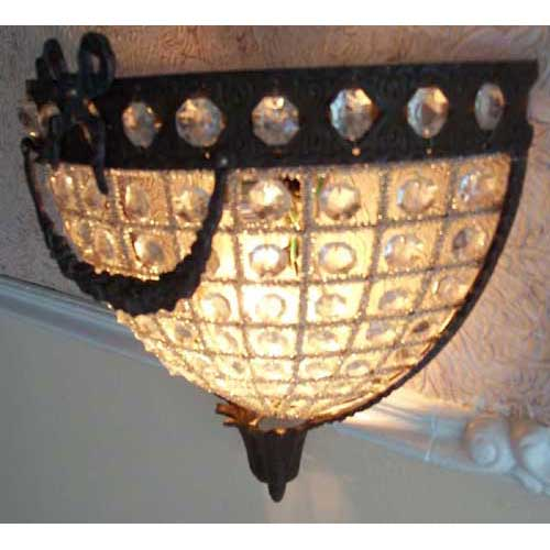 Handmade Copper Wall Sconces : Pair half Round Garland French Empire Crystal Wall Sconces Handmade in Egypt - Copper Pedicure ...