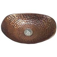Antique Patina Oval Hand Hammered Women Toilet bathroom Sink