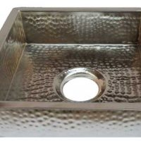 Nickel Plated Square Copper Kitchen Sink