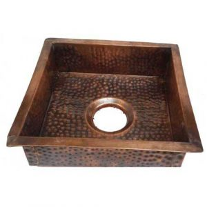 Square Oil Rubbed Antique Patina Copper Kitchen Sink