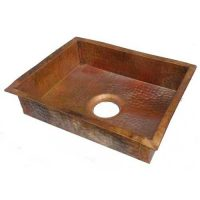 Fire Burnt Antique Patina Copper Kitchen Sink