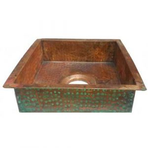 Industrial Shabby Chic Undermount Copper Kitchen Sink