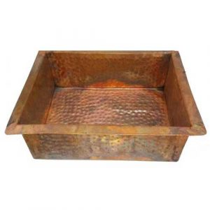Square Foot Relax Therapy Flame Burnt Copper Pedicure Basin