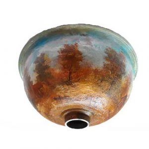 Artistic Over mount Hand Painted Sink Basin