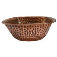 Foot Massage Antique Patina Copper Spa Pedicure Therapy Bowl