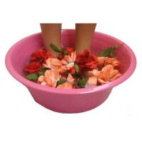 Fuschia Foot Massage Pedicure Spa Therapy Bowl