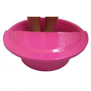 Fuschia Massage Pedicure Spa Therapy Bowl + Foot Rest