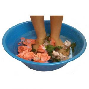 Blue Foot Massage cosmetic treatment Beauty Salon Bowl
