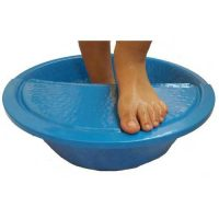 Blue Foot Massage Beauty Salon Bowl + foot Rest