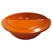 Orange Foot Massage Beauty Salon Bowl + foot Rest