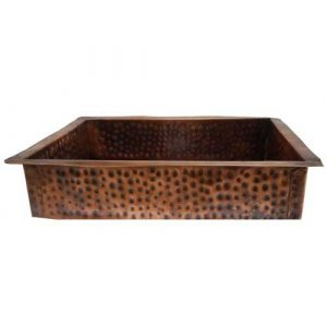 Oil Rubbed Antique Patina Rectangle Copper Kitchen Sink