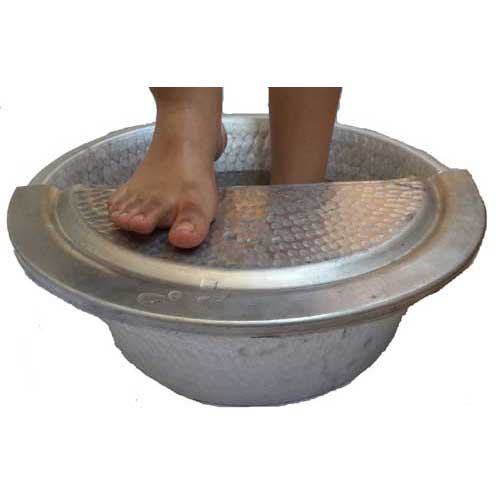 Foot Rest Pedicure Bowl Metal Soaking Spa Massage Copper