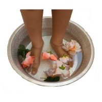 Pedicure Bowl Metal Soaking Spa Massage
