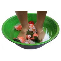 Pedicure Bowl Metal Soaking Spa Massage Double Face