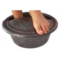 foot Rest Pedicure Bowl Petite Silver Vein