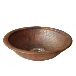 Copper Rest Room Sink Round Lavatory Bowl Basin