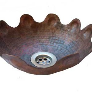 Copper Vessel Sink Round Artistic Bowl