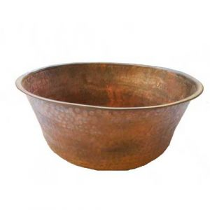 Feet Relief Round Copper Garden Planter Basin
