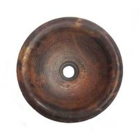 Skirted Vessel Copper Sink Counter Top Bowl