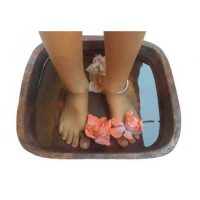Square Copper Foot Massage Pedicure basin