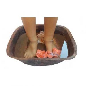 Square Rustic Copper Foot Calf Legs Relaxation Massage Pedicure bowl