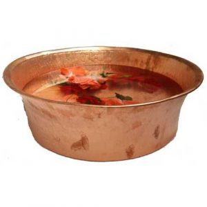 Foot Pain Relief Massage Pedicure Polished Copper basin