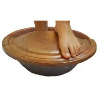 Rustic Leg Foot Soak Massage Spa Copper Tub, Footrest