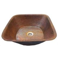 Vessel Square Sink Lavatory Copper Bowl
