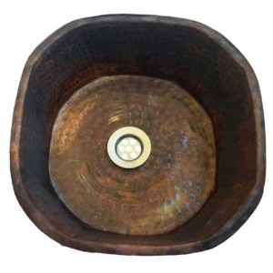 Copper Sink Bowl Toilet Octagonal Design