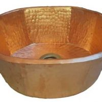 Polished Copper Sink Bowl Toilet Octagonal Design