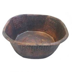 Burnt Octagonal Gym Fitness Copper Foot Rubbing Tub