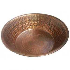 Antique Patina Copper Foot Therapy Massage Basin