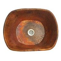 Rectangular Copper Bowl Bath Vessel Counter Top Sink