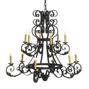 hand forged fer forge iron ceiling chandelier