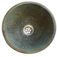 Verdigris Round Dome Bowl Bathroom Copper Toilet Sink Lavatory