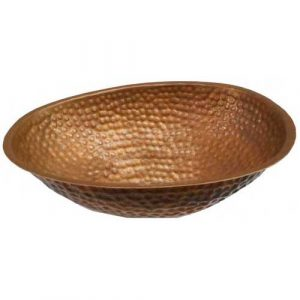 Oval Egg Shape Copper Foot Bath Therapy Massage Spa Bowl