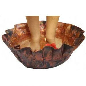 Foot Treatment Scrub Copper Therapy Massage Spa Basin