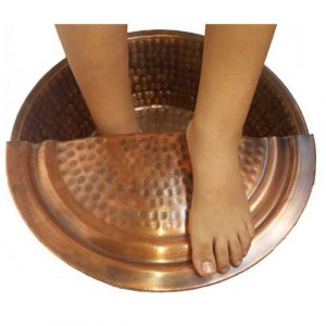 Copper Foot Care Therapy Reflexology Spa Beauty Salon Basin