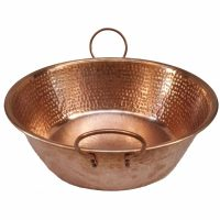 Hand Hammered Natural Copper Jam Cooking Pot
