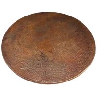 Copper Fire Burnt Hammered Round Copper Table Top