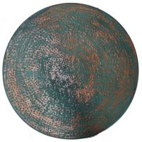 Turquoise Verdigris Hammered Round Copper Table Top