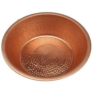 Foot Soaking Pedi Polished Therapy Massage Spa Copper Basin Tub